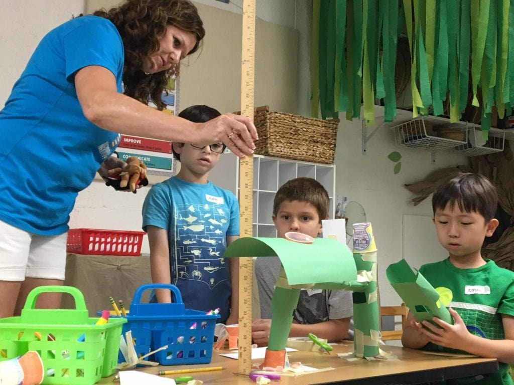 students making instruments